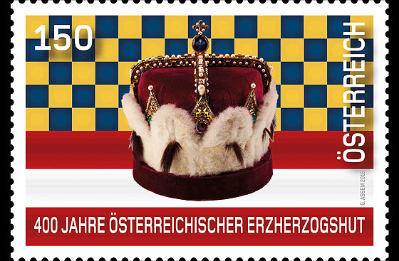 400-Years-Austrian-Archducal-Hat-stamp-l