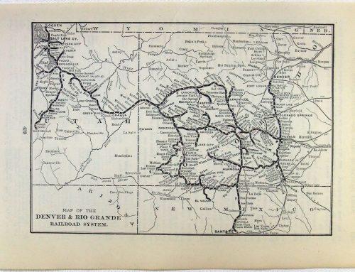 Map of the Denver Rio-Grande Railroad (1904)