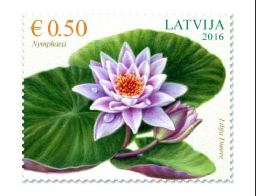 Stamps of Latvia: Waterlilies (2016)