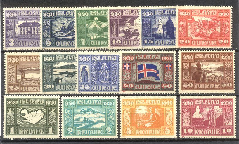iceland parliamentary set 1930