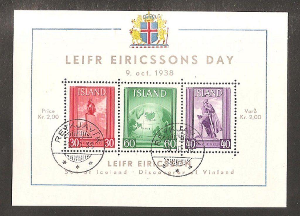 Iceland Leifr Eirikisson Day 1938