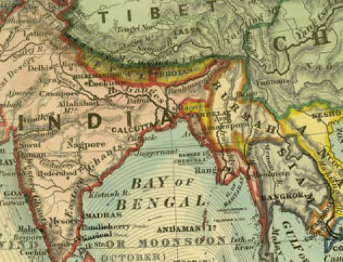 Map of India & South East Asia  (1877)