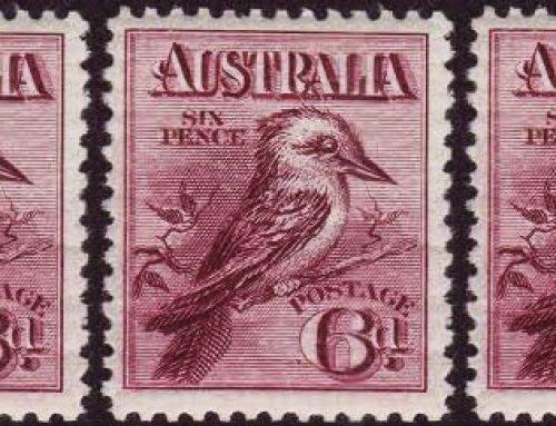 Stamps of Australia: 6d. Kookaburra Issue (1914)