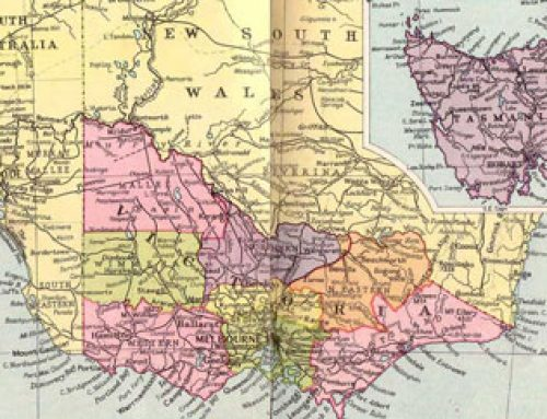 Australia: Victoria and Tasmania Map (1935)