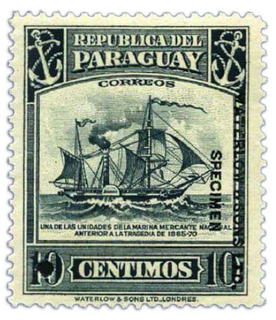 paraguay-specimen-stamp-10c-1944-1945