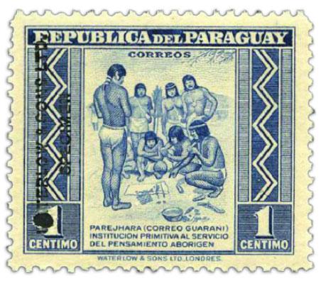 paraguay-specimen-stamp-1c-1944-1945