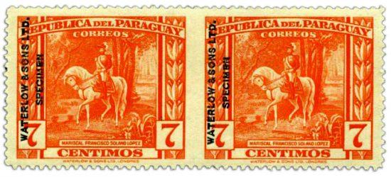 paraguay-specimen-stamp-7c-1944-1945