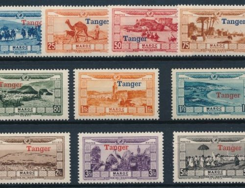 Flood Relief Stamps overprinted for Air use in French POs in Tangier (1929)