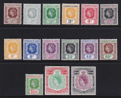 leeeward-islands-qe2-defins-1954