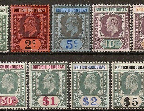 Stamps of British Honduras: Edward VII Definitives (1902-10)