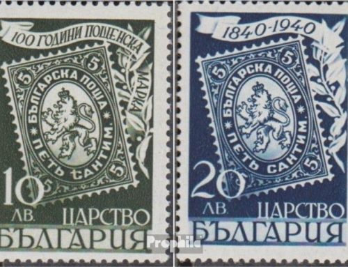 Stamps of Bulgaria: Centenary of First Adhesive postage Stamps (1940)