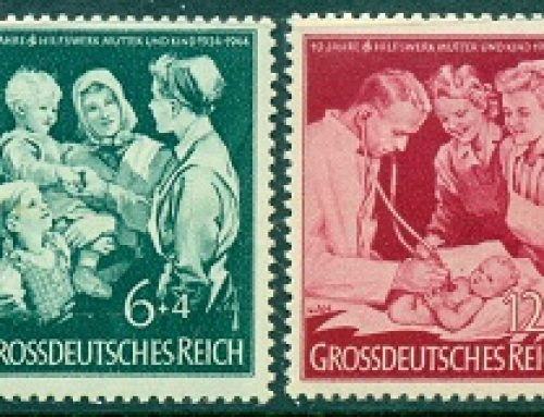 "Stamps of Germany: ""Mother and Child"" Organization (1944)"