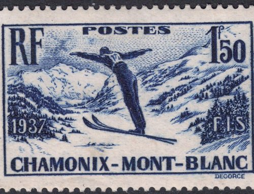 Stamps of France: Chamonix-Mont Blanc Skiing Week (1937)
