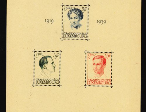 Stamps of Luxembourg: Grand Duchess Charlotte Anniversary (1939)